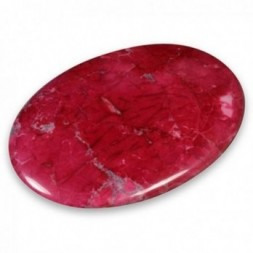 Red Howlite Palmstone