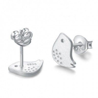 Bird Silver Stud Earrings