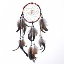 Multi Coloured Dreamcatcher with Beads