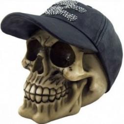 Skull with Cap Ornament