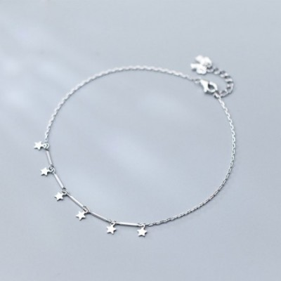Hot Stars Solid Silver Anklet