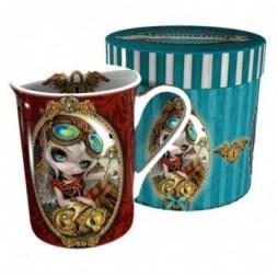 Clockwork Dragonling Mug in Gift Drum