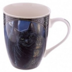 Cat with Broom China Mug