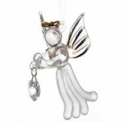 Clear Crystal Loving Angel Figurine