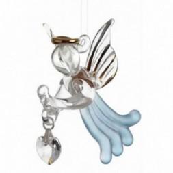 Aquamarine Loving Angel Figurine