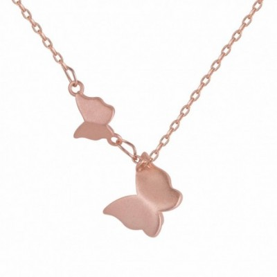 Butterflies 18k gold-plated Silver Necklace