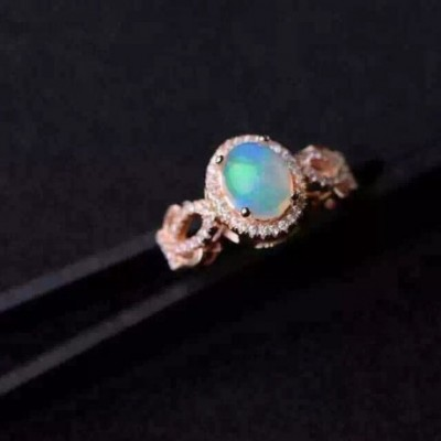 Aumtrian  Opal Solid Silver Adjustable Ring