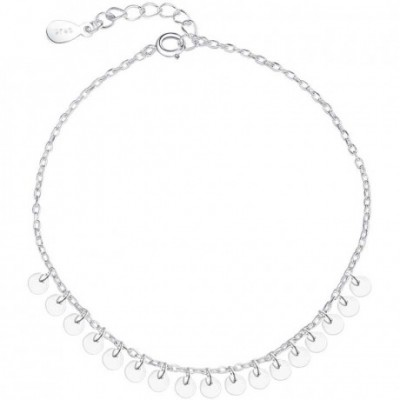 Shining Small Slice Silver Anklet