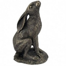 Bronze Moon Gazing Hare Figurine