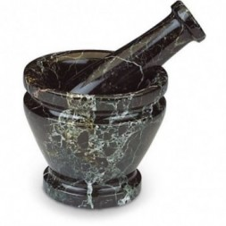 Black Marble Pestle and Mortar