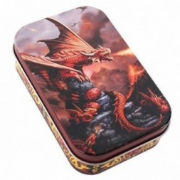 Fire Dragon Metal Tin