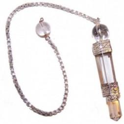 Three-Piece Rock Quartz Pendulum