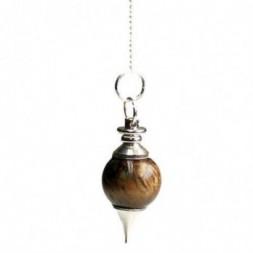 Tigers Eye Sphere Pendulum