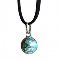 Angel Colours Bell - Teal Pendant