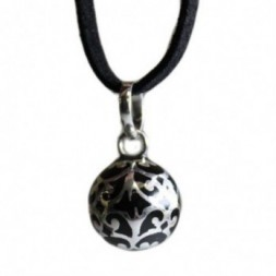 Angel Colours Bell - Black Pendant