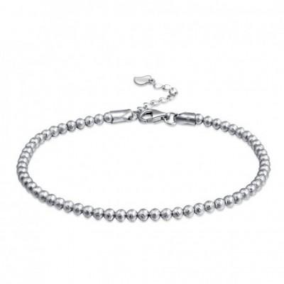 Carved Beads Silver Bracelet