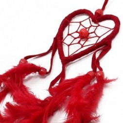 Black, White and Red set of 6 Heart Dreamcatchers