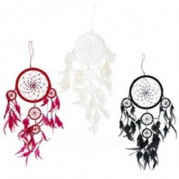 Black, White and Red  set of 3 Dreamcatchers