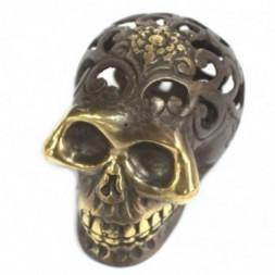 Vintage Feng Shui Brass Skull - Lrg