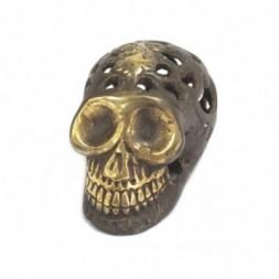 Vintage Feng Shui Brass Skull - Small