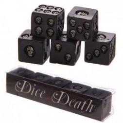 Black Skull Dice - Pack of 5