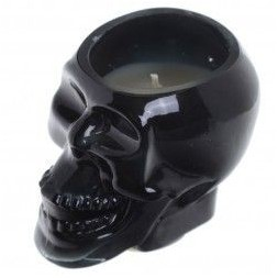 Black Skull Soya Candle Jar - Spiced Rum