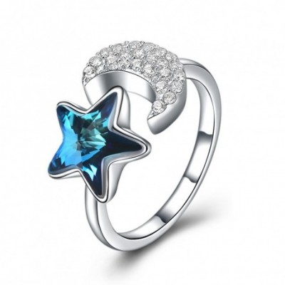 Aumtrian Crystal Star  Gemstone Crescent Moon Silver...