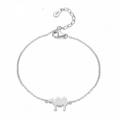 Camel Silver Adjustable Bracelet