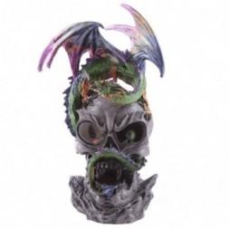 LED Crystal Eye Skull Dragon Figurine