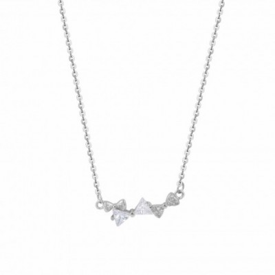 Bowknot  Gemstone Silver Necklace