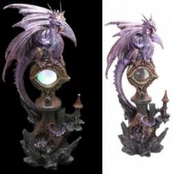 LED Dragon Eye Castle Figurine
