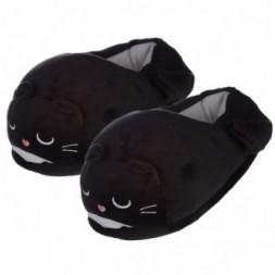 Black Cat Pair of Unisex Slippers