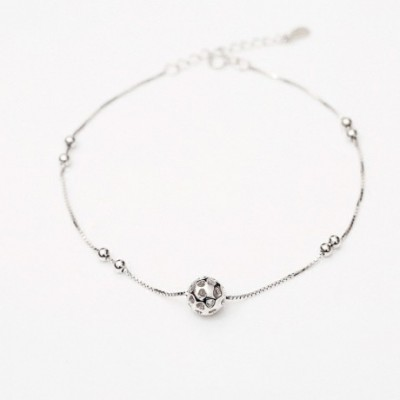 Hollow Ball Silver Anklet