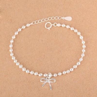 Bowknot Beads Silver Bracelet