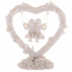 Cherubs Floral Heart Swing