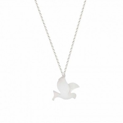 Bird Silver Necklace