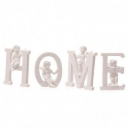 Cherub HOME Letters Ornament