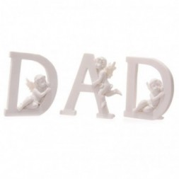 Cherub DAD Letters Ornament