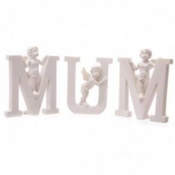 Cherub MUM Letters Ornament