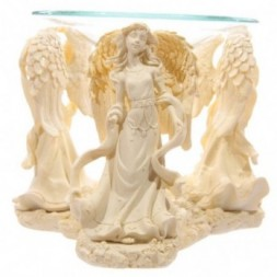 Cream Angel Design Oil Burner