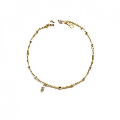 Casual Shell Pearl Silver Chain Bracelet