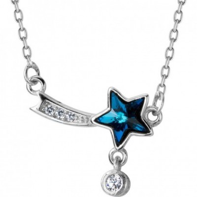 Blue  Gemstone Star Necklace