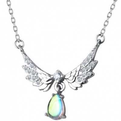 Gemstone Angel wings Necklace