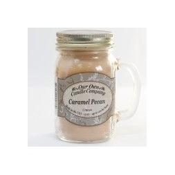 Scented Candle Jar -Caramel Pecan