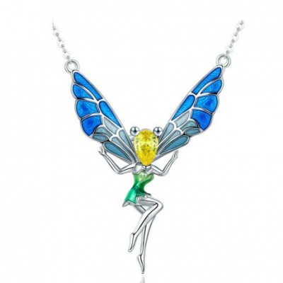 Gemstone Fairy Flying Wings Necklace