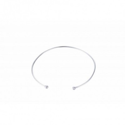 Beads Silver Adjustable Bangle