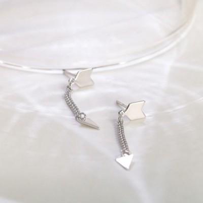 Arrow Silver Dangling Earrings