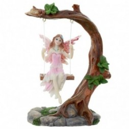 Flower Fairy Figurine - Swing