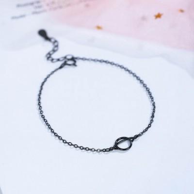Black Planet Ring Silver Bracelet
