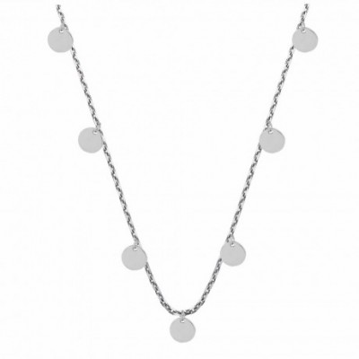 Round Wafer Silver Anklet